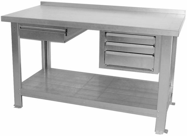Tavolo Da Lavoro Per Website : Banco da lavoro piano in lamiera zincato per laboratorio