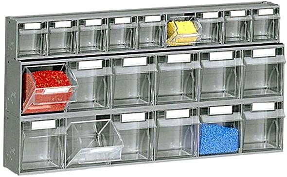 Scaffali cassetti plastica trasparenti furgoni o carrello for Scaffali a parete