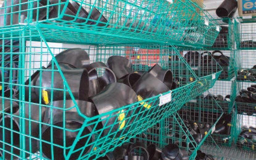 contenitori maglia rete plastificato ferro magazzino edile