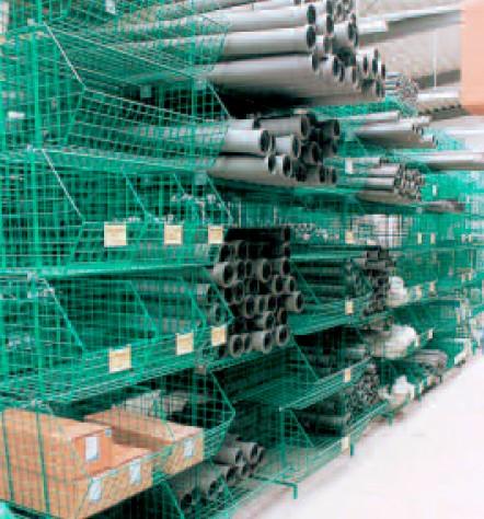 Contenitori maglia rete plastificato ferro magazzino edile for Tipi di tubi idraulici in plastica