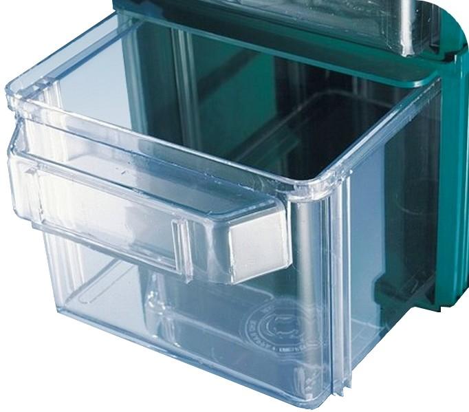 Cassettiere In Plastica Per Magazzino.Contenitori Cassetti Plastica Trasparente Sovrapponibili