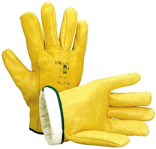 guanti in pelle bovina interno felpato e orlato AT272 56e8491946b1