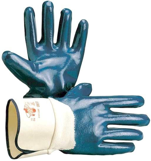 guanti maglia filo cotone impregnati NBR antiolio