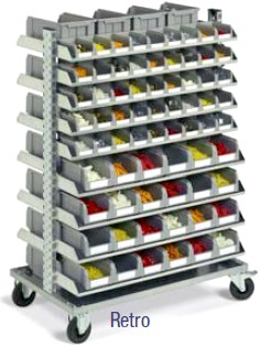 scaffale carrelli contenitori carrello minuteria plastica