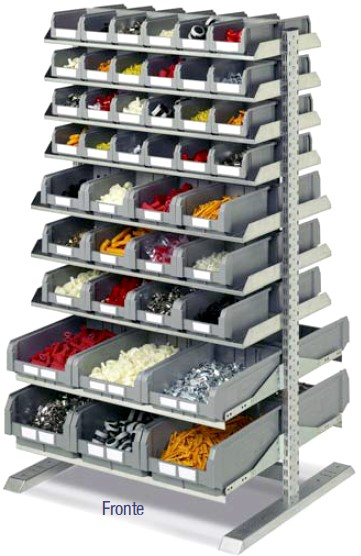 Scaffalature Per Minuterie.Scaffale Carrelli Contenitori Carrello Minuteria Plastica