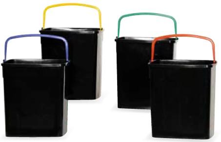 Bidoni plastica raccolta differenziata in casa ufficio bar - Mobile raccolta differenziata 4 secchi ...