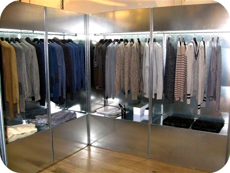 arredamento per negozio abbigliamento fai da te: arreda negozi fai ... - Arredamento Negozio Abbigliamento Scaffalatura In Acciaio