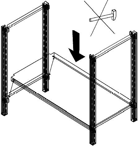 montaggio ripiani scaffali magazzino in metallo a gancio