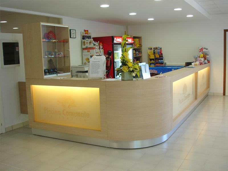 Banchi reception banconata centri benessere fitness banco