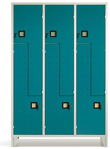 Armadietti spogliatoio metallo palestra posti sovrapposti for Armadietti metallo